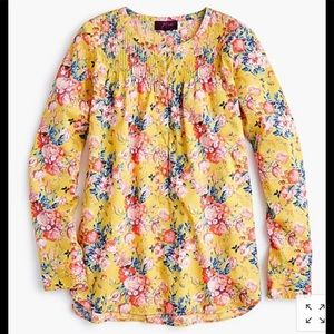 JCrew Liberty Magical Bouquet Popover 6 Tunic